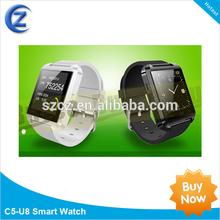 2014 New Product u8 Smart Watch,u watch u8 Bluetooth Watch for iPhone Samsung HTC Motorola LG Android Phone Smartphones