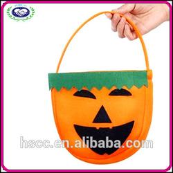 2015 Newest Design China Manufacturer Non-woven Halloween Pumpkin Candy Bag
