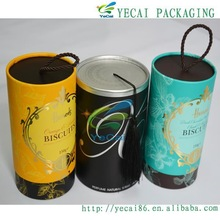 various designs high quality paper tube can for dry fruits with tin plug with bottom sealed