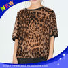 T-Shirts Product Type OEM factory leopard t shirt