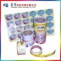 Papel de etiqueta art, Completa cores impresso private label, Rolo de código de barras etiqueta adesiva