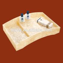 new design hotel bathroom trays/hotel amenity trays wholesale