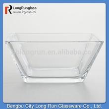 LongRun Transparent Tempo Square Bowl Hot Sale Glass Dinnerware
