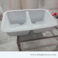 venda quente branco brilhante cultivadas em mármore pias de pedra