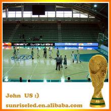 sports court perimeter LED board/ NBA Basketball stadium display