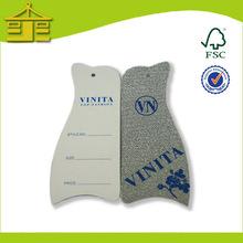 Fashion paper hang tag for garments jeans/party clothing/suits