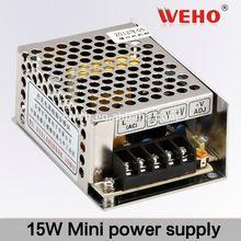 WEHO 15W Single output minisize power supply hing led switching power