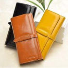 2014 Wholesale alibaba new arrival brand name women first layer genuine leather 3 fold wallet
