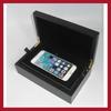 2014 new design small matte black lacquer finish wooden iphone 6 box iphone 6 plus box