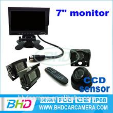 "2014 CE vehicle 7"" monitor and IR waterproof reverse camera bluetooth kit"
