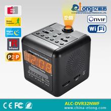 Classical style design AM/FM cube radio wireless ip camera clock 600 TVL Sony CCD wifi hidden camera