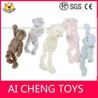 The latest products 2014 High quality stuffed plush monkey for baby AZO free
