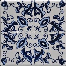 hand painted flower design wash basin smart porcelain wall tiles-EMHZ018