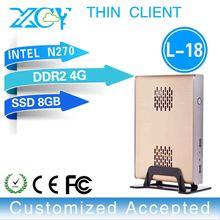 support MIC! XCY L-18 support MIC arm embedded pc Intel N270 1080P Slim desktop computer 4g ram 8g ssd
