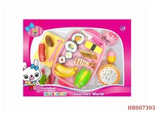 Children Kitchen Toys With Cutting Fruit And Vegetable