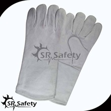 SRSAFETY long cow split leather gloves for welding