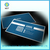 plastic qr code and signature pannel business card