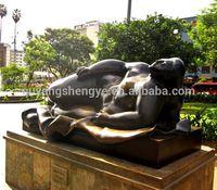 famous bronze fat lying lady sculpture