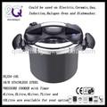 Dsj22-10l antiadherente olla a presión con negro fuera de cocina de la inducción
