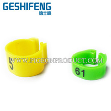 plastic open pigeon rings plastic clip bird foot band,chicken foort bands,