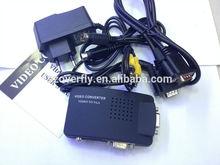 s-video vga rca to hdmi converter(AV TO VGA/TV to PC) rca to vga converter