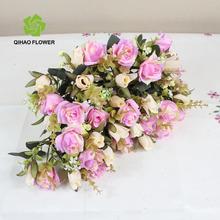 artificiale bouquet fiori rosa per la sposaingrosso
