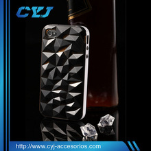 High Quality fashional case for mobile phone for iphone 4/4S with TPU and PC big diamond