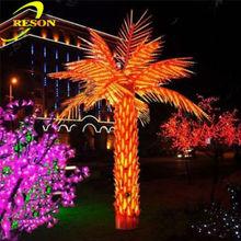 Garden lighting palm tree metal art