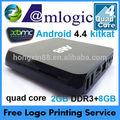Android 4.4 quad core amlogic s802 m8 1080p de google chrome tv box