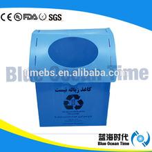 Blue corrugated plastic waste bin/recycled bins/trash bin