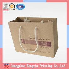 Custom Print Top-grade Retail Low Cost Shopping Kraft Paper Bag