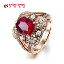 Wholesale Bulk Fashion Elegant CZ Zircon Crystal Gold Plated Wedding Rings