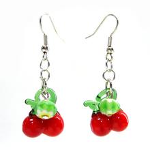Wholesale Fashion Jewelry Fruit Theme Cherry Dangle Earring