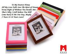 Colourful Plastic Picture Frame 4x6 5x7 6x8 8x10 fibre decor wall coating