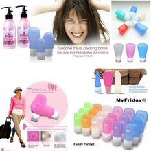 Travel Packages Of Bottled Shampoo Shower Gel Emulsion Silicone Dispensing Bottles Travel Goods