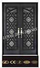 double security door with wrought iron gate designs for exterior metal door
