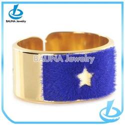 New Popular fashion jewelry big gold ring