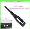 super sensitivity,sound&LED lights alarm types full body portable metal detectors Super Wand