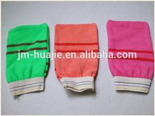 Hot sell bath body exfoliating gloves