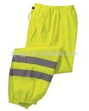 HIGH VIS MESH PANTS Reflective Safety Green Yellow