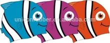 sun protection silicone adult funny swim cap,printable waterproof fish shape swim cap for kids UN-0608