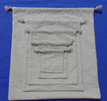 custom wholesale 100% cheap plain cotton drawstring bags (YC6813)