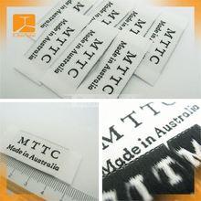 2012 new style taffeta woven label