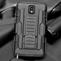 CASEFORMERS Duo Armor BLACK for Samsung Galaxy Note 3 Combo Case with Stand and Holster