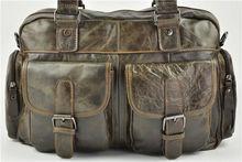 arr5142 designer fashion men vintage genuine leather travelling bag hand bag