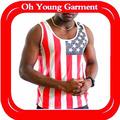Gros Hip Hop vêtements, Drapeau américain débardeur