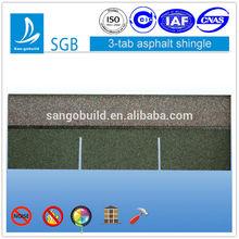 asphalt fiberglass,color granules Material asphalt shingles