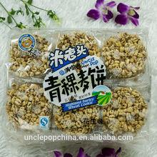 healthy grain snack 400g (peanut flavor) highland barley puffed wheat cakes