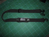 Simple plastic pad shoulder straps