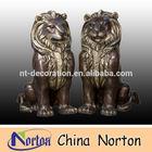 hot sale antique life size Brass lion statue NTBH-HR010